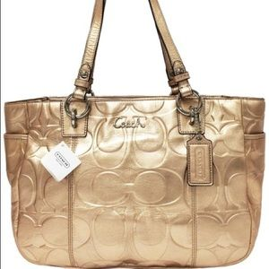 Coach East West leather tote